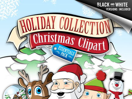Christmas Clip Art: Essentials Pack - Santa, Rudolph, Frosty, +more
