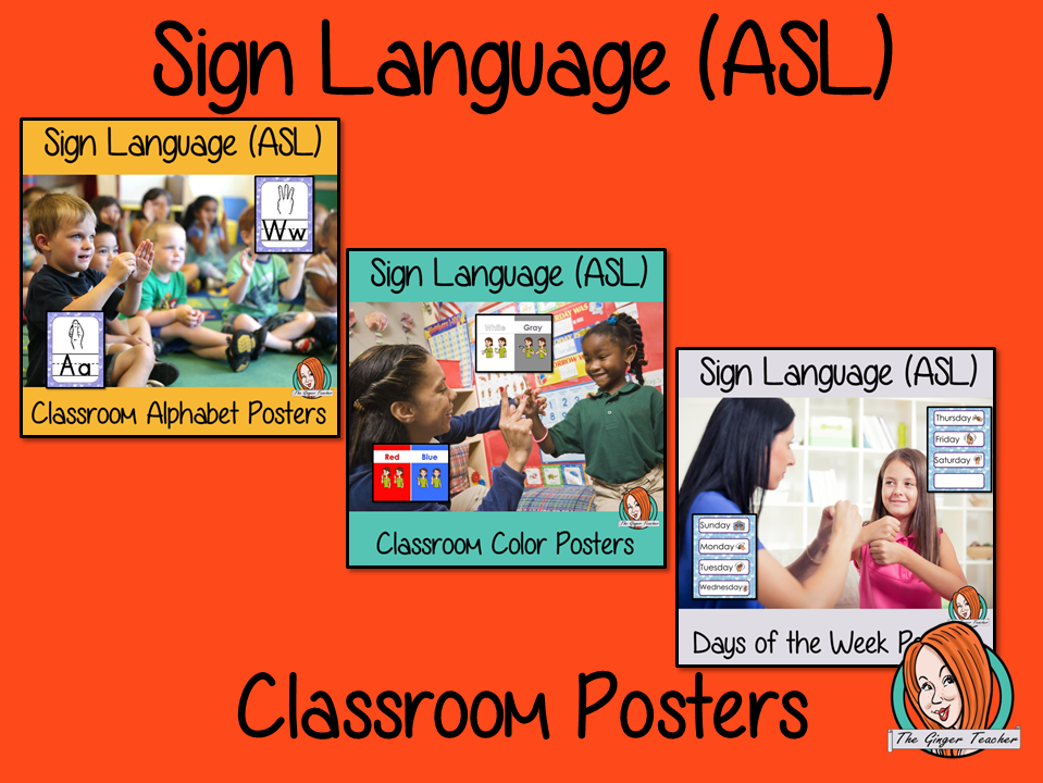 Sign Language ASL Classroom Posters Bundle