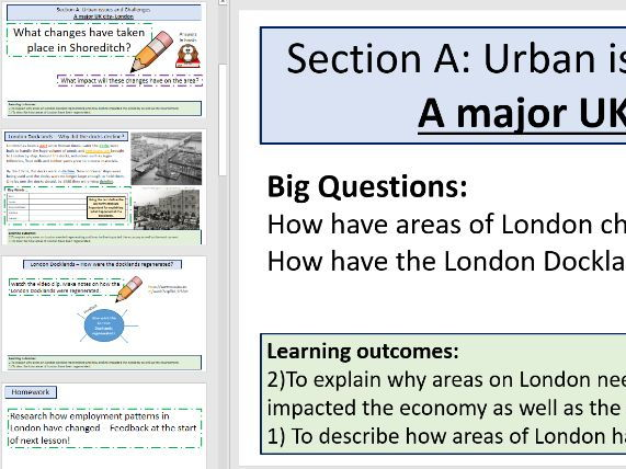 London Case Study - Regeneration - Urban issues (AQA 9-1 Geo)