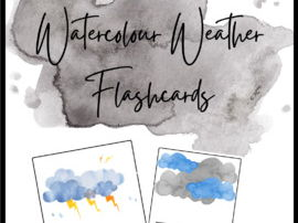 Watercolor Weather Flashcards