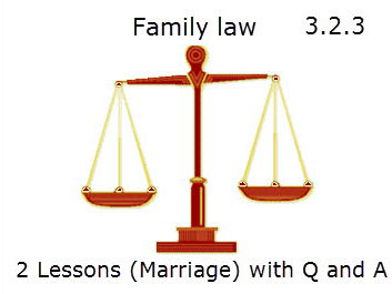 Family Law Marriage  - 2 (7 Word Documents) lessons with questions and answers