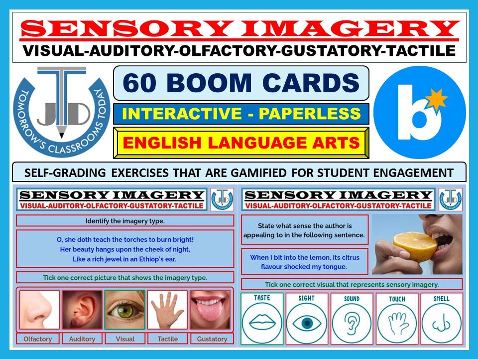 SENSORY IMAGERY: 60 BOOM CARDS
