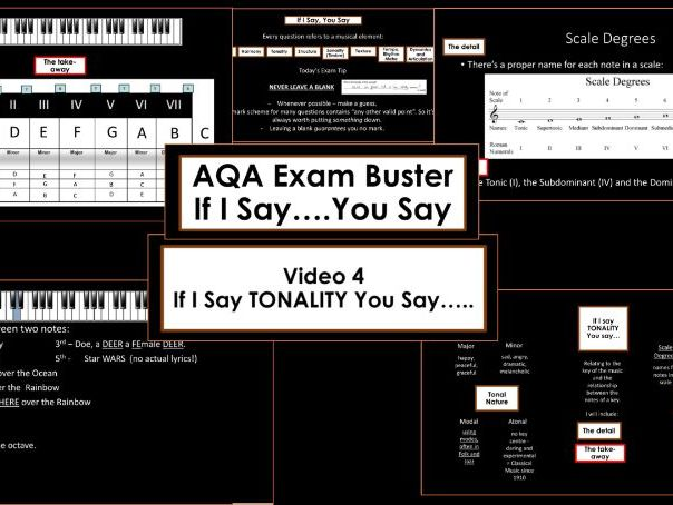 AQA GCSE Exam Buster - I Say You  Say: Tonality