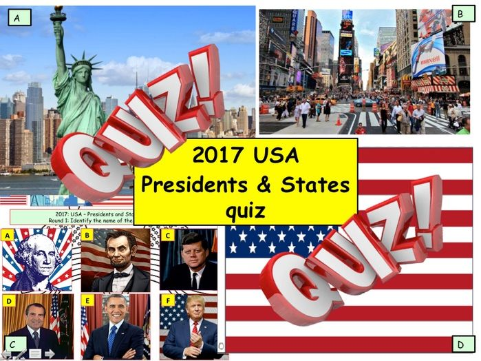 USA Presidents and States and Elections Quiz US
