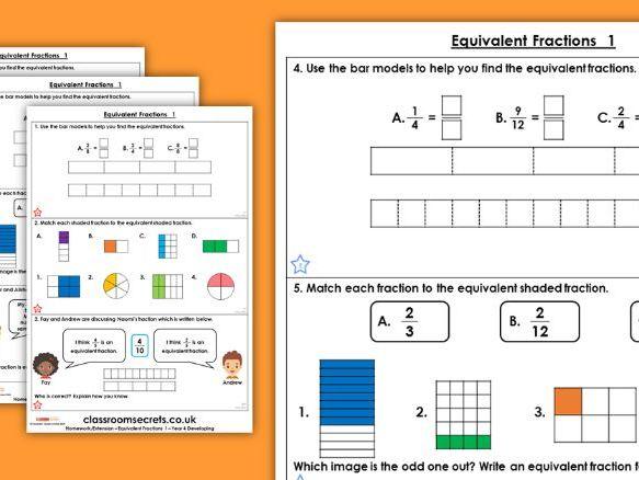 Equivalent fractions homework help