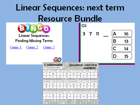 Linear Sequences_next term: 3 resources