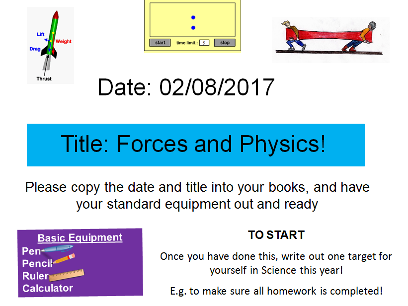 Forces Introduction - New GCSE Physics Spec