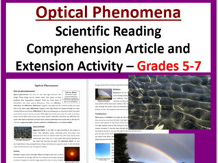 Optical Phenomena - Science Reading Article - Grades 5-7