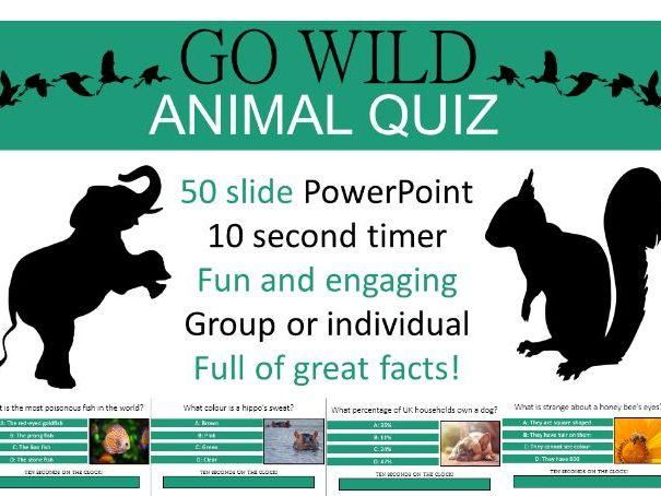 Animal Quiz - 50 slides!