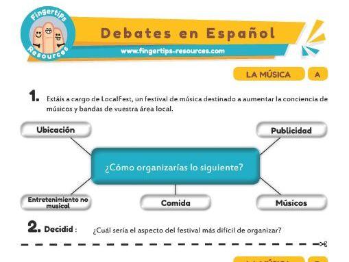 Música - Debates in Spanish