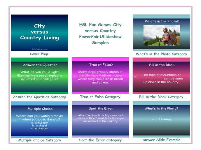 City-Country PowerPoint Slideshow