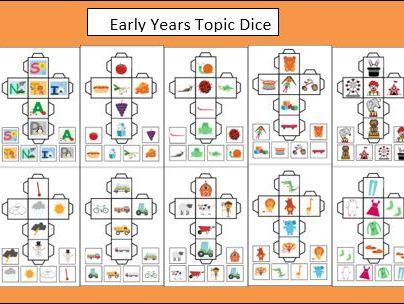 10 Early Years Topic Dice