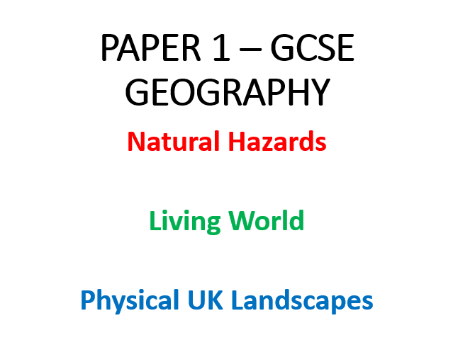 Paper 1 Revision Workbooks (AQA GCSE Geog)