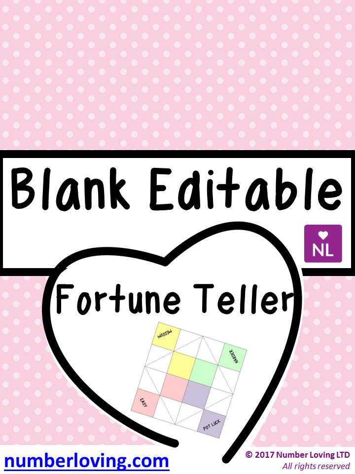 Blank Editable (Cootie Catcher)