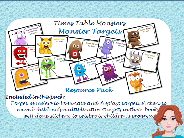 Times Table Monster Targets