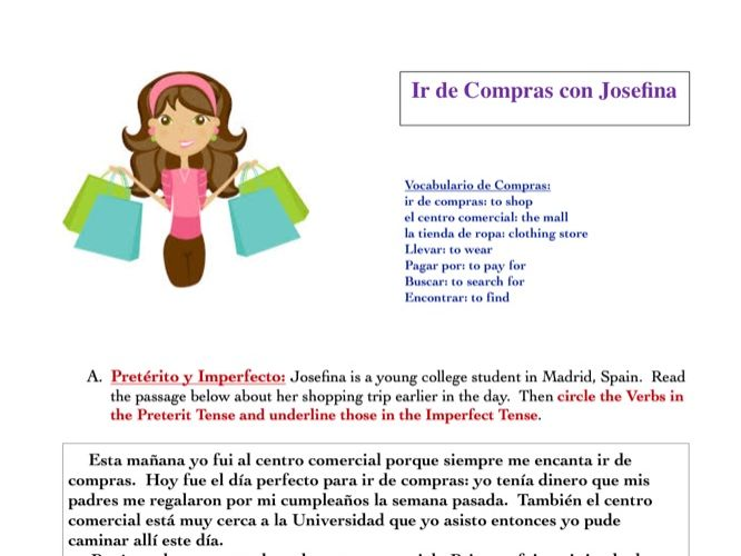 Shopping Reading Activity (Spanish)