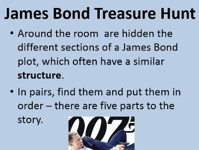 James Bond Structure Lesson - KS3 Introduction