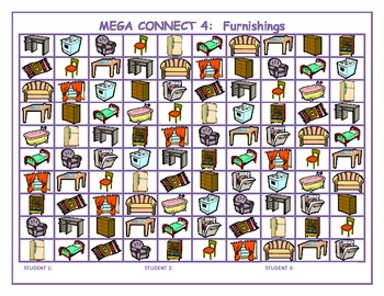 Furnishings Mega Connect 4 game