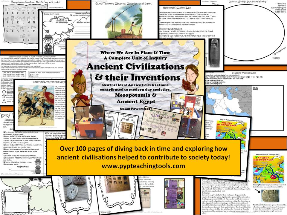 Ancient Civilizations Inventors Extraordinaire IB PYP Unit of Inquiry