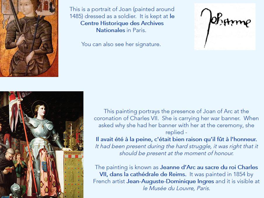Joan of Arc Investigation Sheet