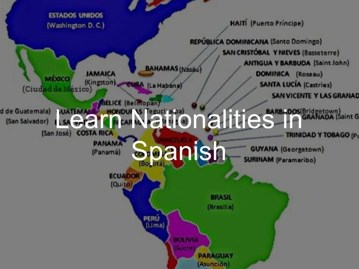 Learn Nationalities and Suffixes