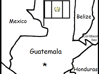 GUATEMALA - printable handouts with map and flag