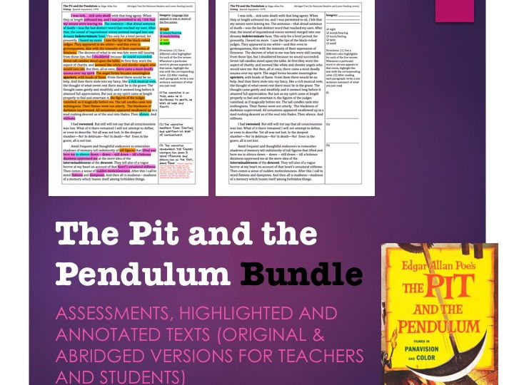 The Pit and the Pendulum Lesson Bundle