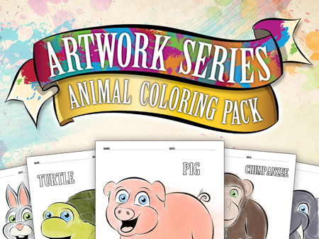 Animal Coloring Book: Pig, Cow, Horse, Cat, Dog, +more