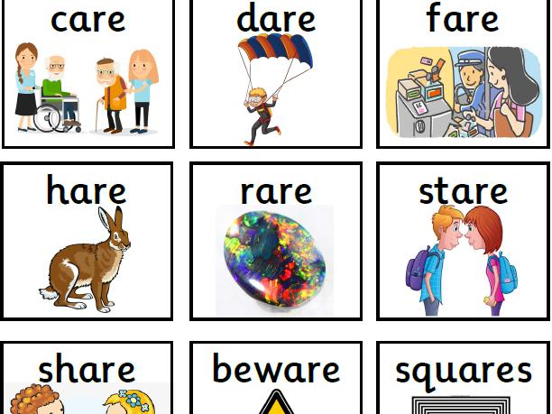 Alternative spellings for 'air' (ere, ear, are)