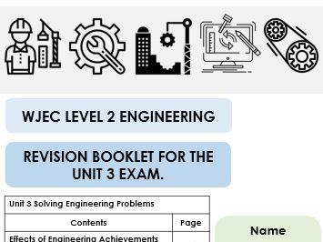 WJEC Unit 3 Engineering revision booklet (for students)