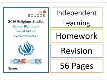 WJEC Eduqas Homework Booklet on Human Rights and Social Justice