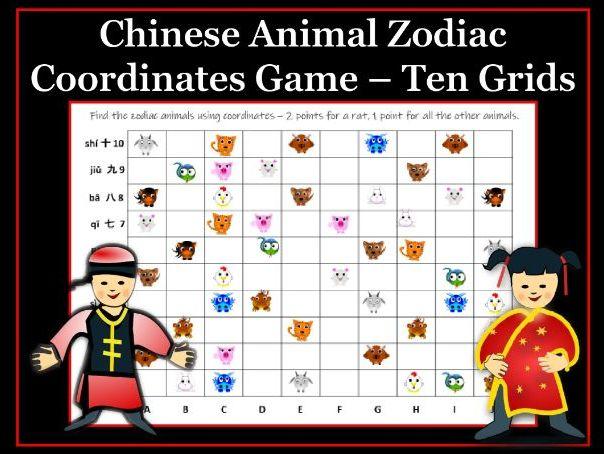 Chinese Animal Zodiac Coordinates Game