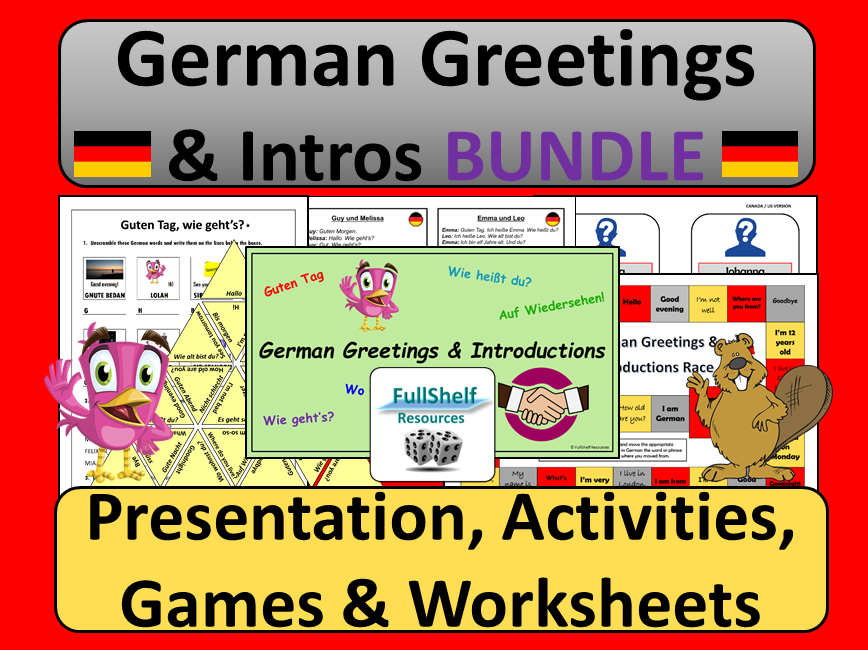 German Greetings and Introductions BUNDLE