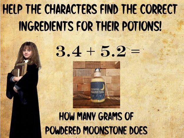 Harry Potter Potions Maths