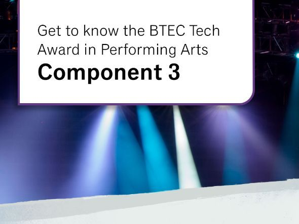 Technician's Logbook: Component 2 - BTEC Level 1/Level 2 Tech Award in Performing Arts: Acting