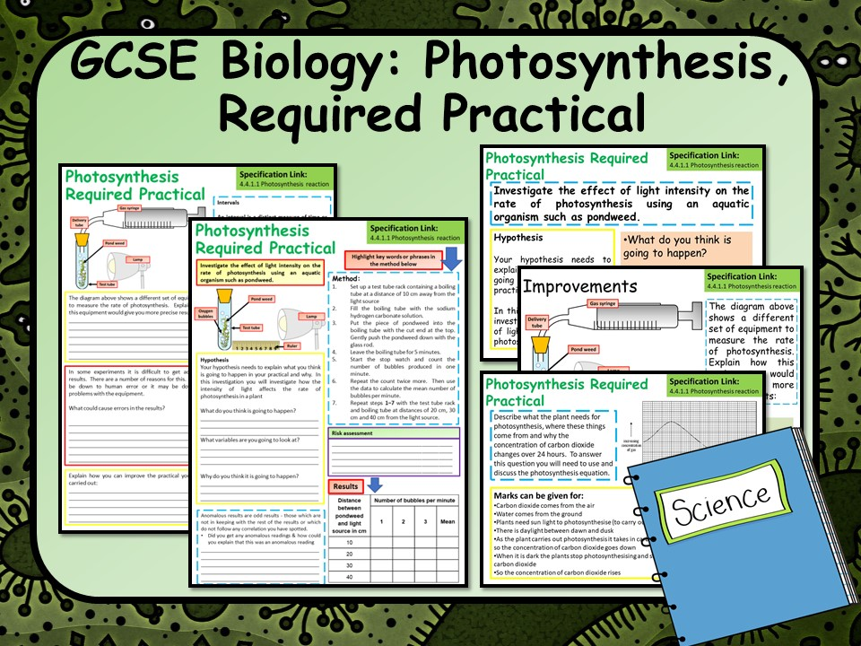 AQA Biology (Science) Photosynthesis Required Practical Lesson