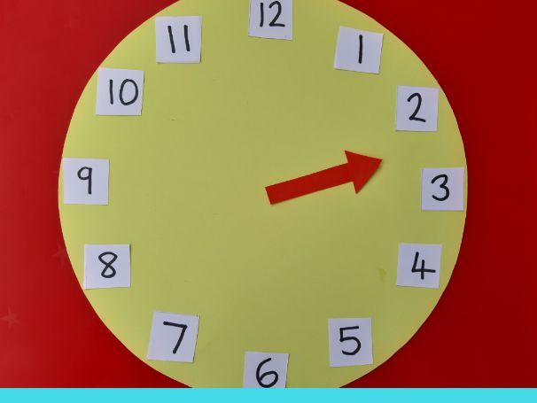 Telling the time in analogue (part 1) Using just the hour hand to understand o'clock and half past
