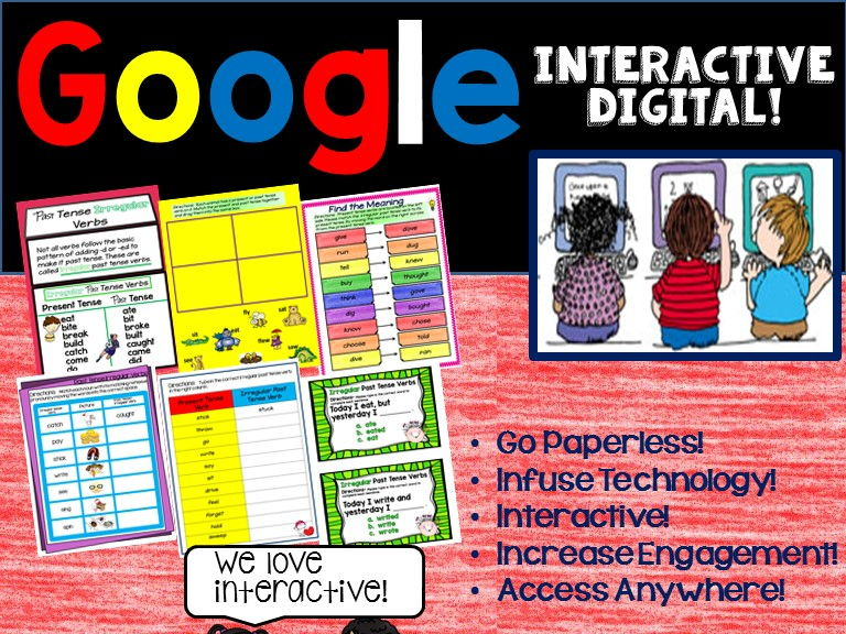 Google Drive Past Tense Irregular Verbs 2nd Grade Literacy for L.2.1.D