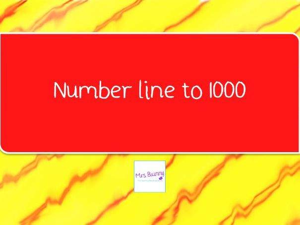 5. Number line to 1000 place value lesson pack (Y3 NPV)