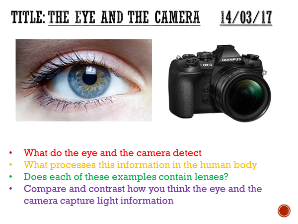 The eye and the camera - complete lesson KS3