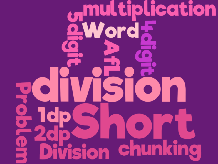 UKS2 (Year 5 and Year 6) - short division of up to 5 digit numbers and numbers to 2dps