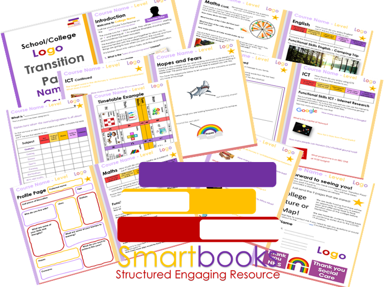 Transition Pack For New Learners - Assessments/Personal Profile/Hopes & Fears/Course Info Etc.