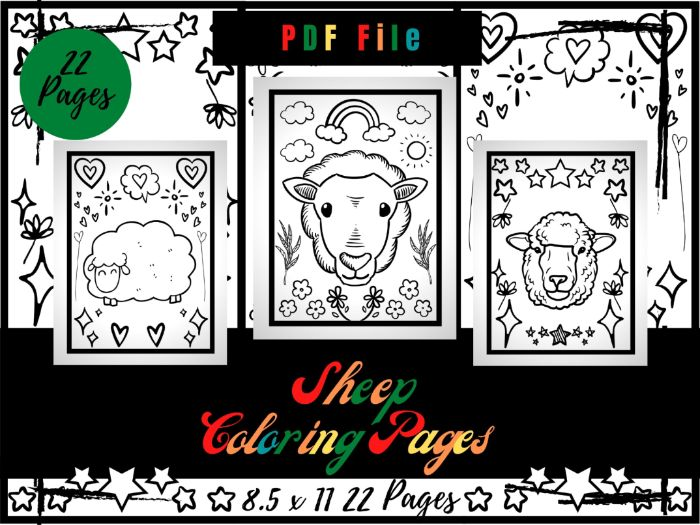 Sheep Colouring Pages For Kids, Colouring Sheets PDF, Eid Sheep Printable Pages