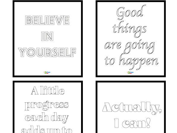 Positive Colouring Cards