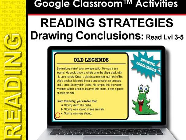 Google Slides: Draw Conclusions Reading Strategies Lvl 3-5