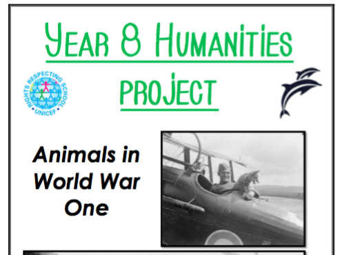 Animals and World War One