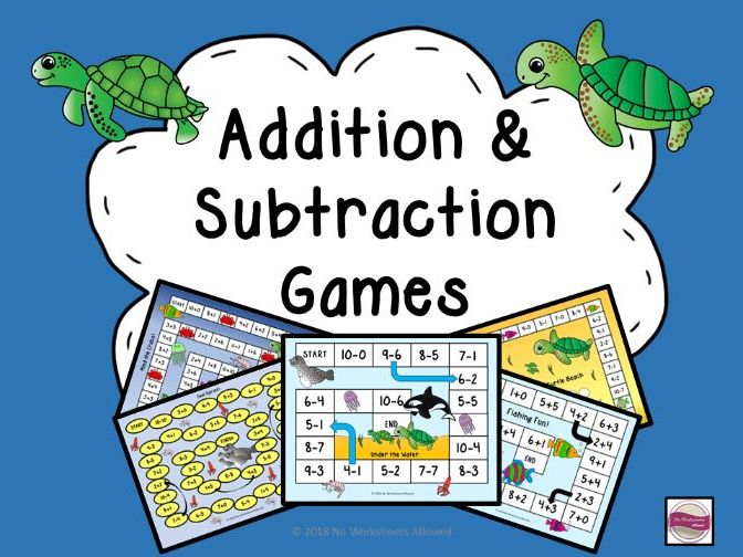 Addition & Subtraction Games: Under the Sea Theme
