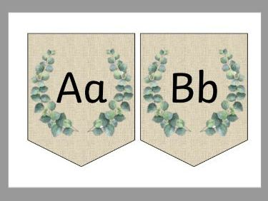 Alphabet Bunting (Natural Themed)