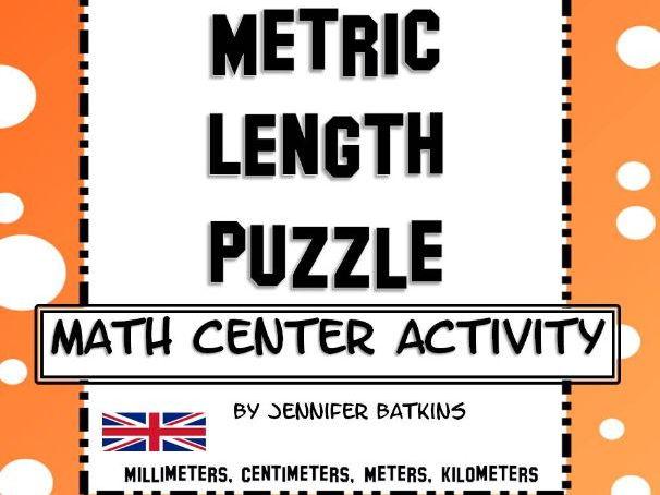 Measurement Metric Length Conversions Math Center Activity
