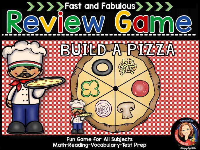 Build A Pizza Game for Fact Review - Any Subject